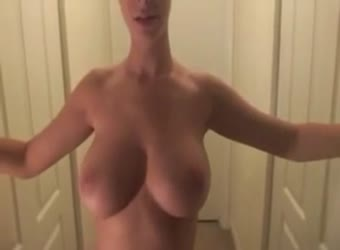 Stunning girl with hot tits gets a facial