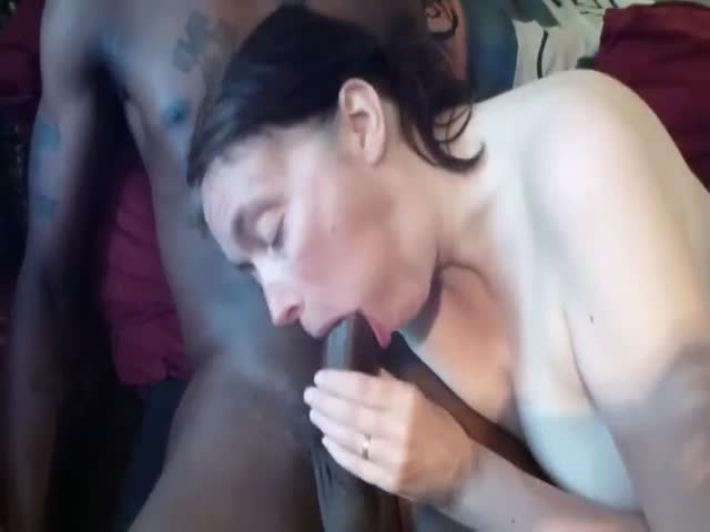 Married white Milf blowing my BBC