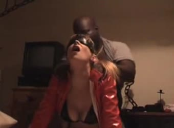 Hot blindfolded wife getting slammed by big black guy