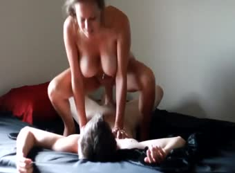 Real amateur sex tape with hot busty girlfriend