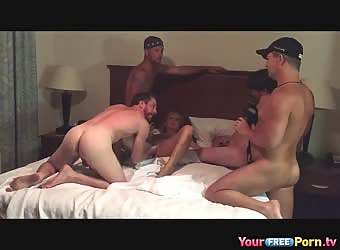 Wife gangbanged by 4 younger guys