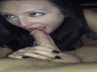 Milf enjoying his hard young cock in her mouth