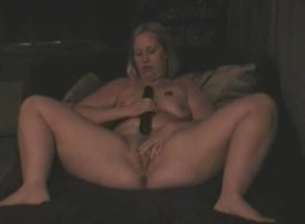 BBW mature wife dildo solo
