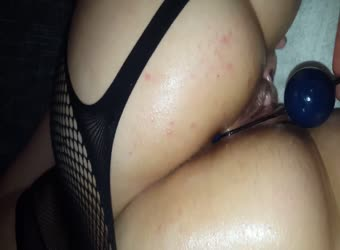 Beads and cock for my slut