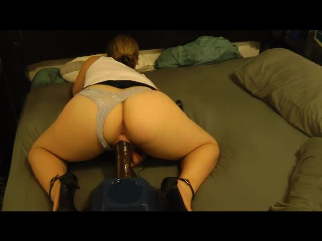 Wife and black dildo
