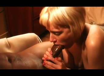 Horny blonde loves the BBC