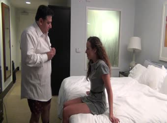 Boss and secretary in hotel
