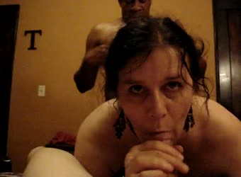Spitroasted mature wife with BBC from behind