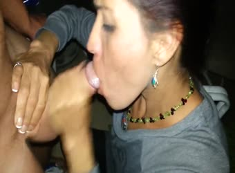 MILF girlfriend giving incredible head to his friend