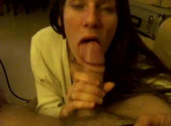 Milf sucks nicely and gets young cum out