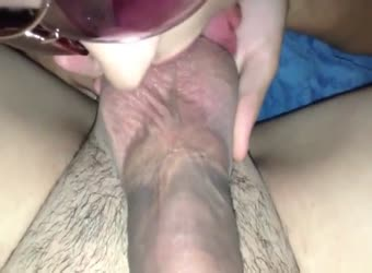 Epic homemade pov cock blowing