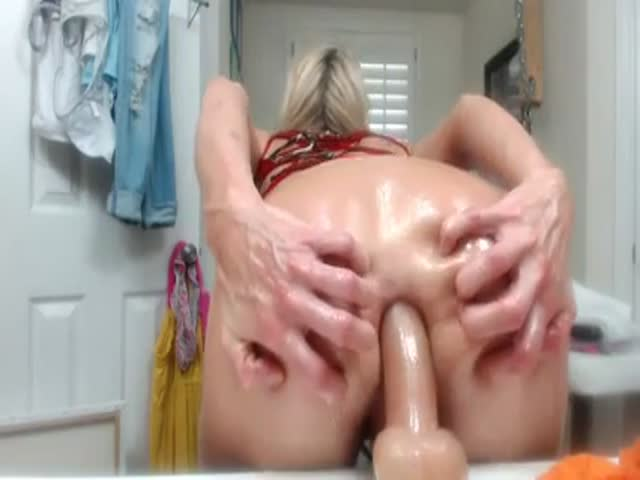 Bathroom Dildo.  Milf bathroom dildo at HomeMoviesTube com
