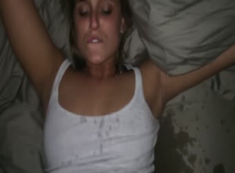Hot blonde squirts buckets