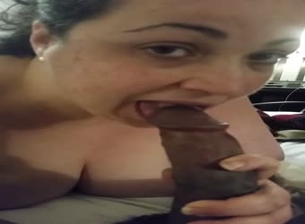 BBW sucking on a nice BBC