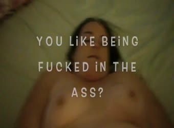 BBW orgasms while being ass fucked