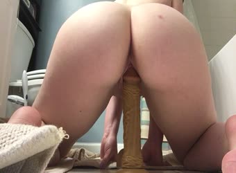 As requested riding my dildo ass view