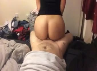Michelle sitting on my dick