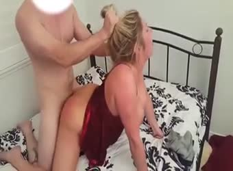 Husband lets his friend enjoy his busty wife