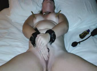 My slut wife bondage orgasm