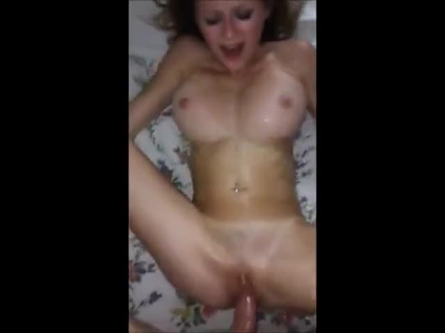 dark haired woman cumming hard