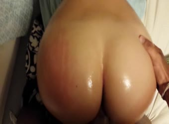 Spanked, oiled and fucked