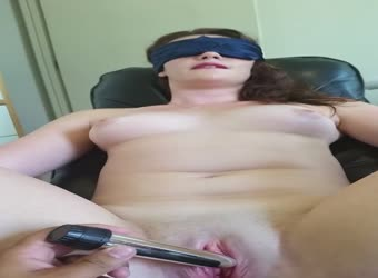 Tied her up and made her cum