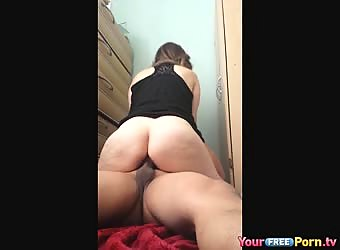 Pawg creampie riding