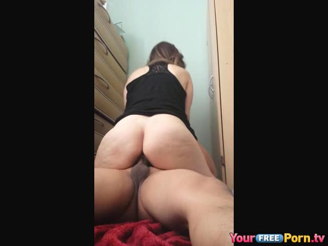 Big Booty Ebony Riding Cum