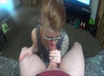 Redhead hotel room butt plug fuck and unwanted facial