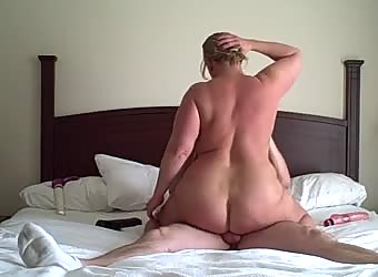 BBW Milf riding thick cock