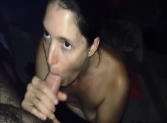 Accountant wife swallows a load