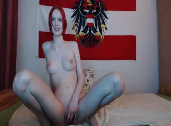 Adorable redhead with perfect tits fucked and jizzed