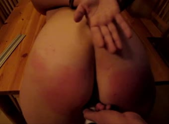 Milf gets handcuffed spanked and ass fucked