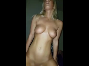Blonde learning to fuck like a slut