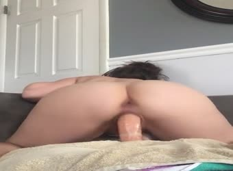 Having fun again riding my dildo