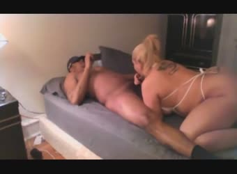 Big ass BBW blonde recording her wild IR fuck