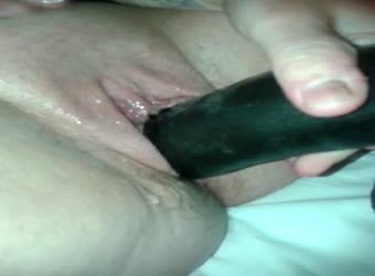 My British slut taking a massive dildo