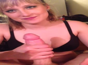 Hot MILF gives a submissive blowjob