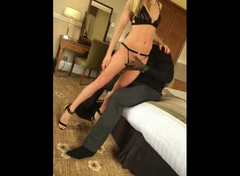 Perfect blonde whore wife fucked by black bull