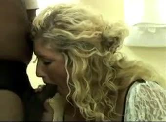 Nervous blonde wife gets used by black men