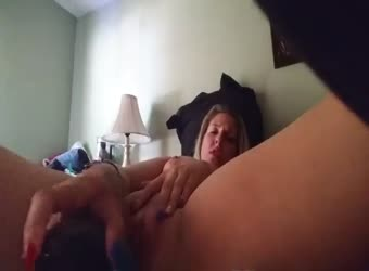 Hot blonde squirting orgasm with dildo