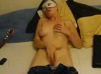 Strong Orgasm Masked Blonde Masturbation
