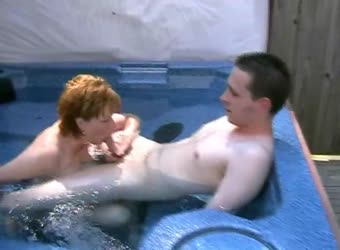 New winner having fun in my hot tub