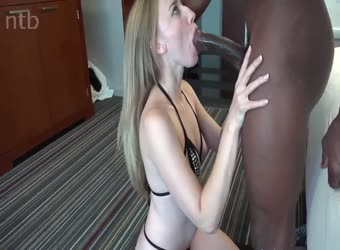 Beautiful tall amateur blonde takes her first BBC