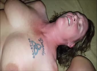Shared wife cums on boy toys mouth