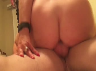 My wife super wet pussy bouncing on our friend