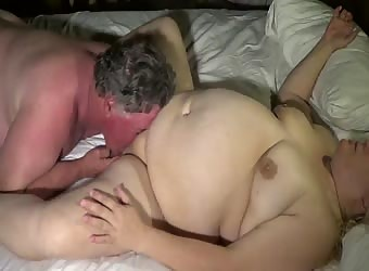 Eating the wife to a hard orgasm