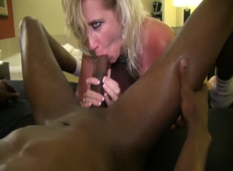 Sexy blonde wife worshipping his beautiful BBC