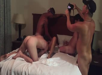 Hubby and friends gangbang nympho wife