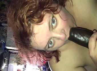 His gorgeous wide eyed slut enjoying BBC